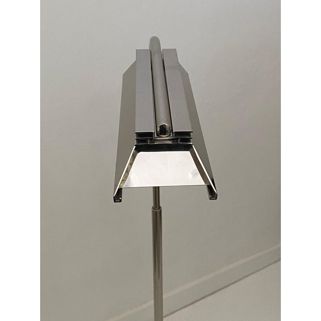 Casella Floor Lamp Nickel Plated from a Palm Beach estate