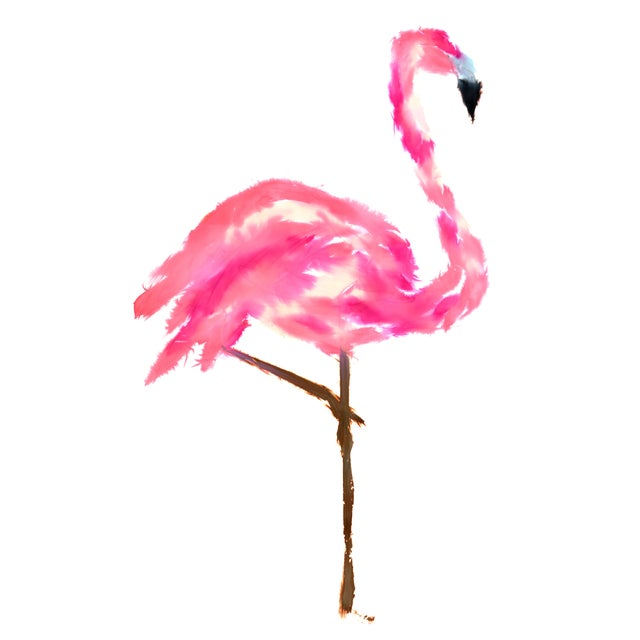 Contemporary Natasha Mistry Flamingo Fine Art Print For Sale - Image 3 of 3