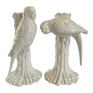 Vintage Fitz and Floyd Parrot Candlesticks - a Pair For Sale