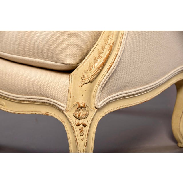 Early 20th Century French Bergere With New Upholstery For Sale - Image 9 of 11