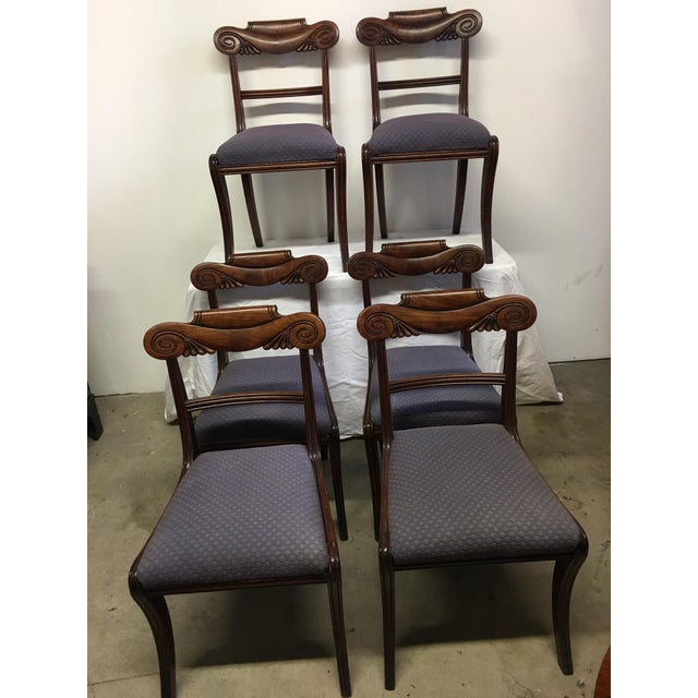19th Century Antique English Mahogany Chairs - Set of 6 For Sale - Image 11 of 11