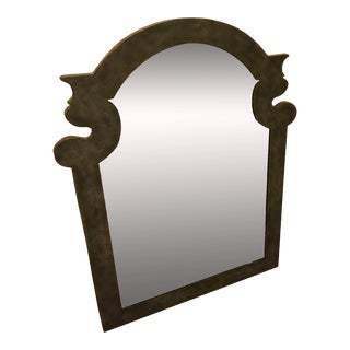 Moroccan Inspired Arched Green Frame Wall Mirror For Sale