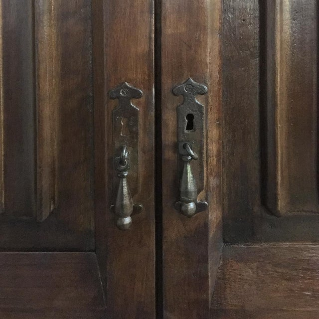 Early 20th Century 19th Century French Gothic Solid Walnut Armoire ~ Bonnetiere For Sale - Image 5 of 13