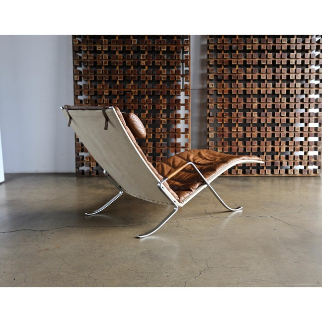 Canvas Preben Fabricius and Jørgen Kastholm for Alfred Kill Grasshopper Chaise For Sale - Image 7 of 13