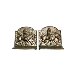 1920s Americana George Washington Hubley Bookends - a Pair