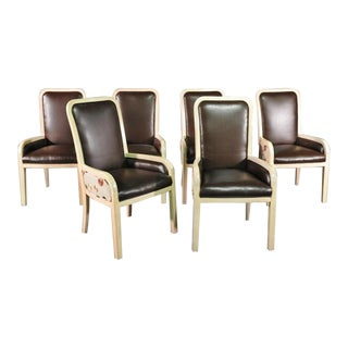 Donghia Modern Designer Dining Chairs - a Set of 6 For Sale