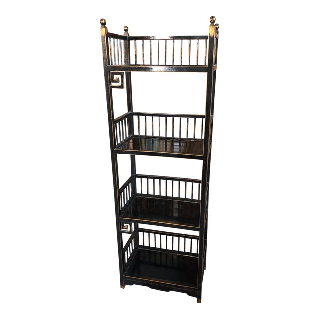 20th Century Asian Inspired Chippendale Style Etagere For Sale