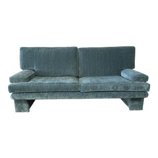1980s Vintage Blue Sofa For Sale