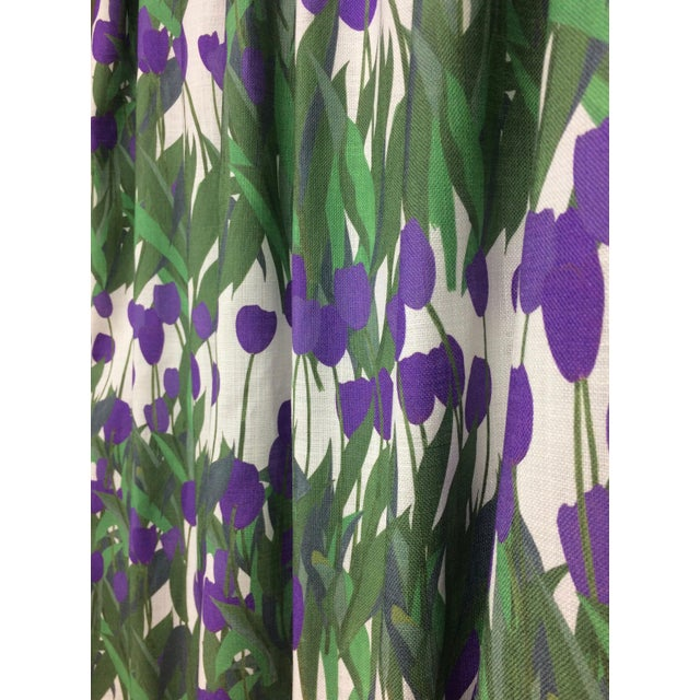 Not Yet Made - Made To Order In Bloom Fabric in Thistle Purple, 5 Yards For Sale - Image 5 of 7