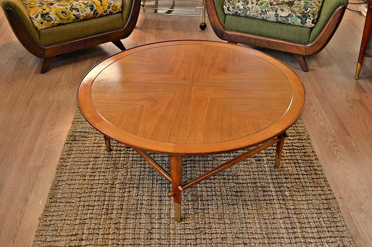 Lane Mid Century Danish Style Copenhagen Round Coffee Table   Image 11 Of 11