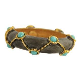 Iconic Kenneth Jay Lane Kjl 60's / 70's Era Mogul Bangle Bracelet For Sale