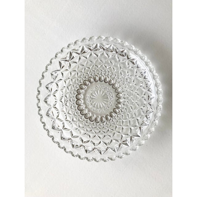 Vintage Textured Glass Catchall Dish For Sale - Image 11 of 11