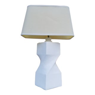 1970s Vintage Sculptural Plaster Table Lamp For Sale