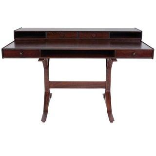Gianfranco Frattini Rosewood Writing Desk For Sale