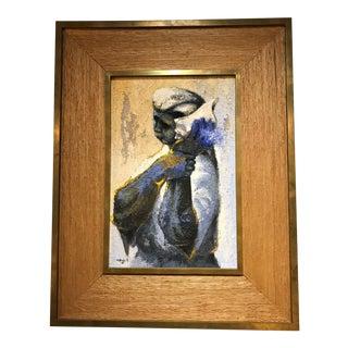 Modern Latin American Armando Morales Oil on Board Painting Nicaragua 1963 For Sale