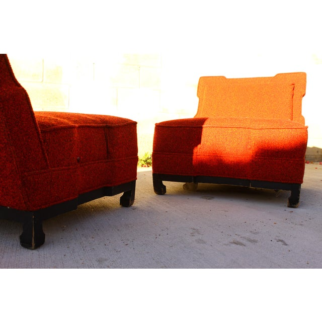Rare James Mont Slipper Chairs - A Pair - Image 9 of 11