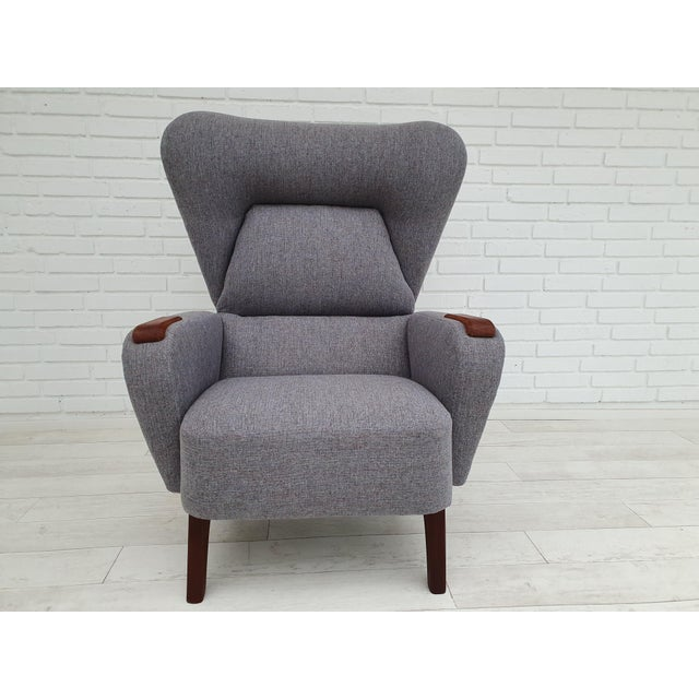 1970s Vintage Danish Lounge Chair For Sale - Image 4 of 13