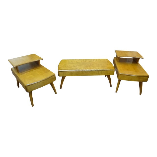 Heywood Wakefield Cocktail Table & Side Tables - Set of 3 - Image 1 of 11