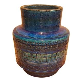 Aldo Londi Bittosi Rimini Raymor Blue Vase For Sale