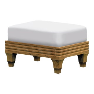 Giati Palazzio Ottoman in Natural Canvas For Sale