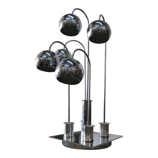 Robert Sonneman Chrome Ball Waterfall Lamp - Image 1 of 11