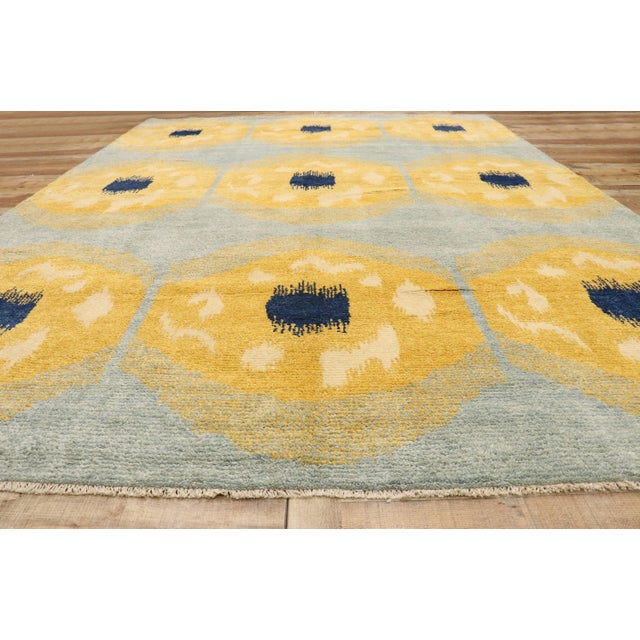 Textile Contemporary Moroccan Rug With Concentric Circles - 10'02 X 13'09 For Sale - Image 7 of 10