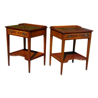 Antique Pair Federal Style Mahogany Nightstands End Tables Bedroom Stands For Sale