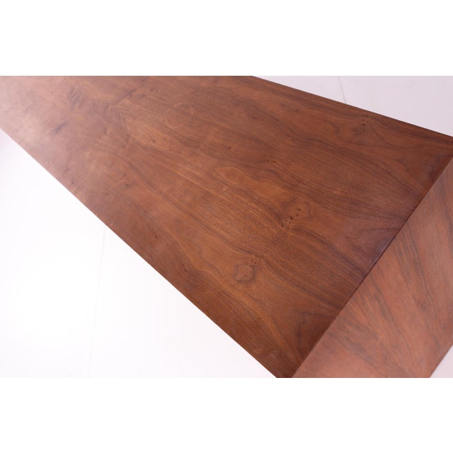 Wood Mid Century Milo Baughman for Dillingham Bookmatched Walnut Sideboard Buffet For Sale - Image 7 of 13