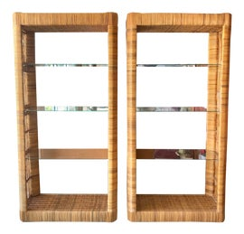 Image of Rattan Bookcases and Étagères