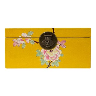 Rectangular Yellow Flowers Graphic Container Storage Deco Box For Sale