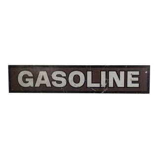 Double Sided Steel Gasoline Sign C.1940 For Sale