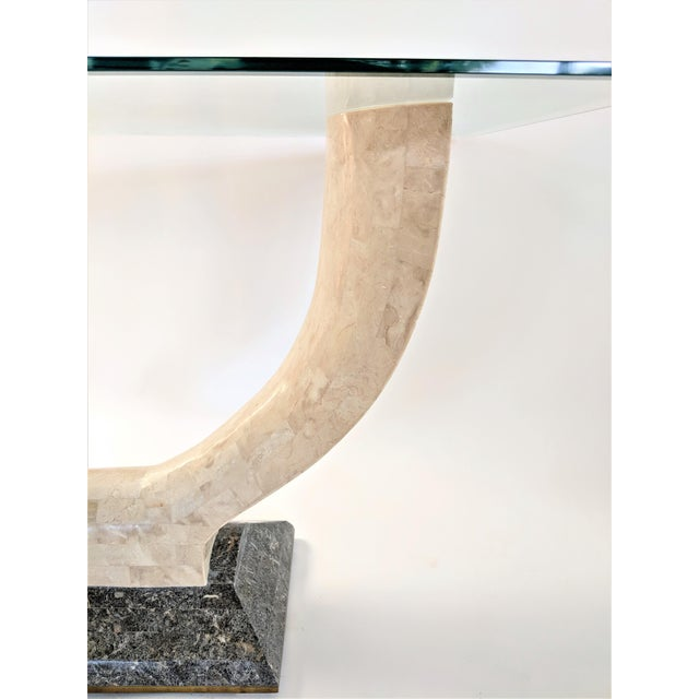 1970s Mid-Century Modern Maitland Smith Tessellated Stone Console or Center Table For Sale - Image 10 of 13
