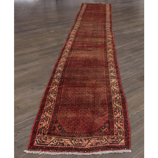 "Apadana - Vintage Persian Hamadan Rug, 2'7"" x 16' - Image 5 of 6"