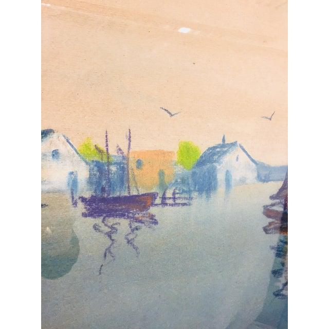 Original Framed Coastal Seascape Painting For Sale - Image 10 of 11