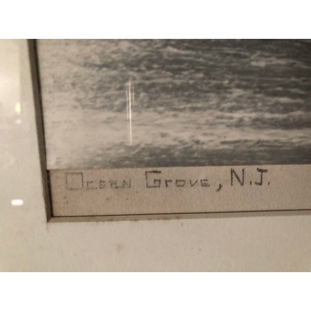 1940s Vintage Black and White Photograph of Ocean Grove, New Jersey For Sale - Image 5 of 13