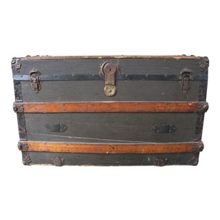 19th Century Wood and Metal Coffee Table Trunk