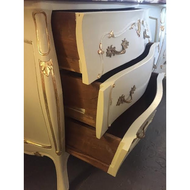 Paint Decorated Marble Top Chests- A Pair - Image 6 of 10