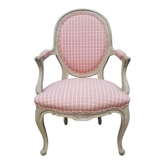 French Louis XV Style Fauteuil Chair