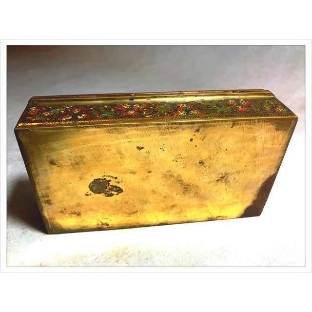 Antique French Enamel Champleve Box For Sale - Image 11 of 11