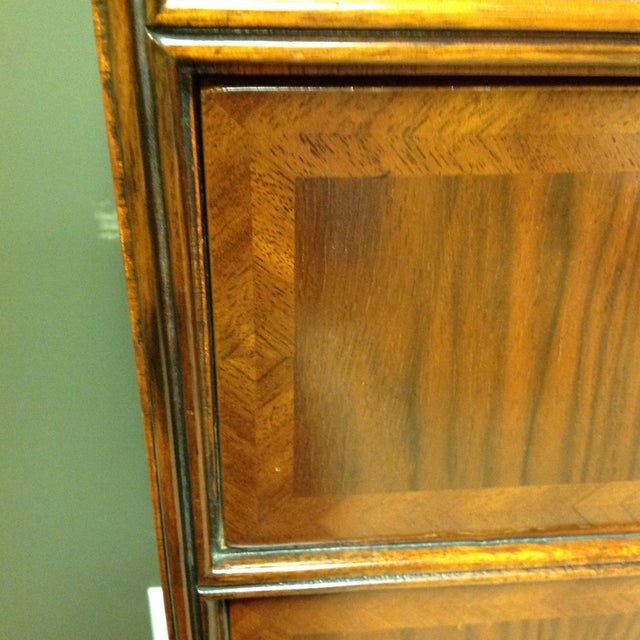 2 Piece Maitland-Smith Walnut Chest on Stand For Sale - Image 5 of 6