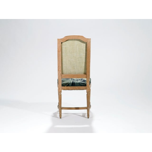 Wood Set of Eight Louis XV Style Chairs, 1950s For Sale - Image 7 of 11