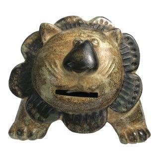 Mid-Century Ceramic Leo Lion Piggy Bank For Sale