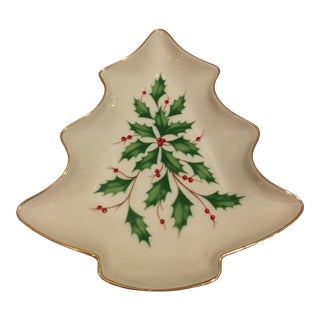 Lenox Holiday Tree Candy Dish For Sale