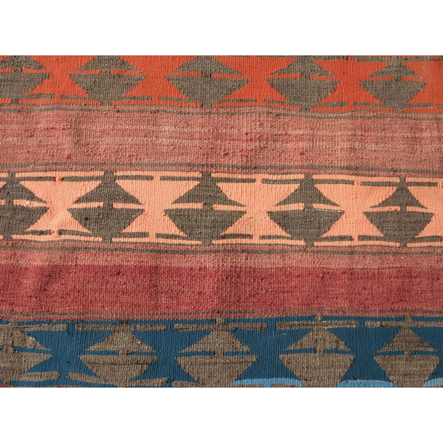 "Vintage Anatolian Handmade Kilim Runner-3'x11'4"" For Sale - Image 10 of 13"