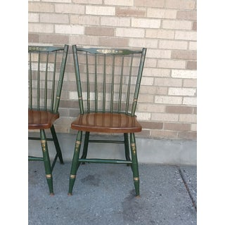 Vintage Hitchcock Windsor Style Stick Back Chairs - Set of 4 Preview