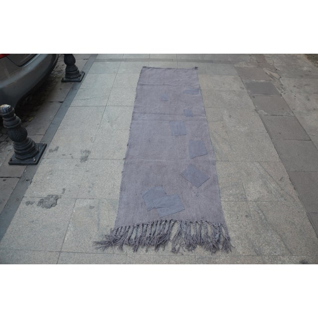 Turkish Anatolian Handwoven Vintage Antique Hemp Rug. From East part of Turkey.