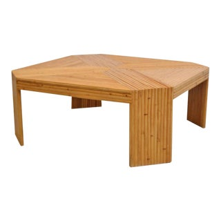 Split Bamboo Coffee Table For Sale