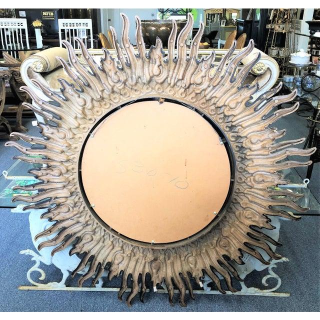 Vintage Sunburst Mirror For Sale - Image 4 of 4