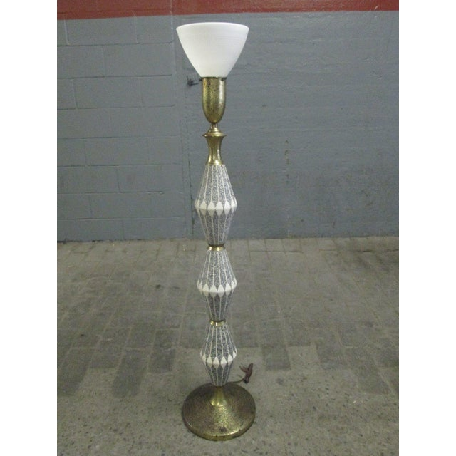 Unique Ceramic and Brass Floor Lamp by Gerald Thurston for Lightolier - Image 2 of 6