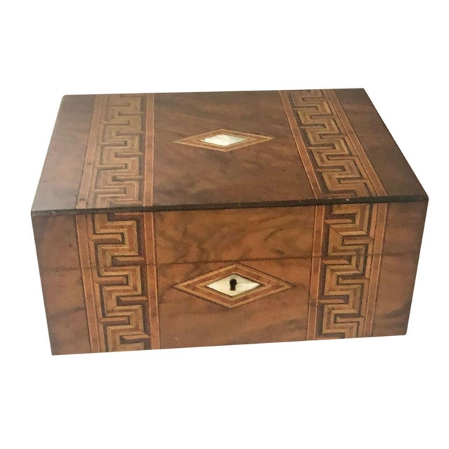Antique French Marquetry Inlay Jewelry Box For Sale In Tampa - Image 6 of 10